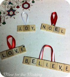 Scrabble Ornament