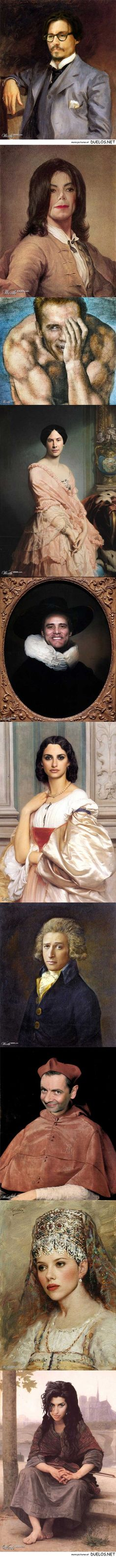 Classic paintings redone with celebrity faces - 1