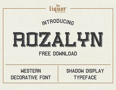"Check out new work on my @Behance portfolio: ""Rozalyn Shadow FREE TYPEFACE"" http://be.net/gallery/57188811/Rozalyn-Shadow-FREE-TYPEFACE"