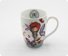 Tasse Ketto en céramique - fille papillon / Ketto's ceramic mug - butterfly girl  www.kettodesign.com