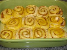Rhodes Cinnamon Rolls with pudding. I've made these and they are to die for!