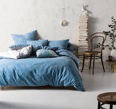 Cotton and linenPrintedCalming tones of blueSoft blue simple dot pattern reverse