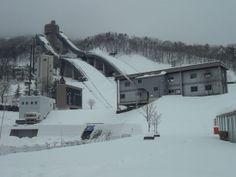 Olympic Ski Jump in Habuba, Japan  http://www.cheapojapan.com/cheap-snowboarding-and-amazing-mountains-hakuba-report/ #travel #holiday #snow #ski #snowboard