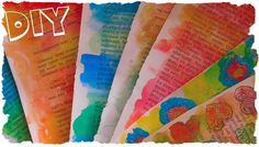 Tutorial: Carte Colorate Personalizzate con Acquerelli e Scatoline Fai D...