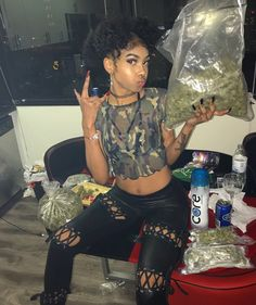 """""""It really puzzles me to see marijuana connected with narcotics dope and all of that stuff. It is a thousand times better than whiskey. It is an assistant and a friend. Girl Smoking, Smoking Weed, High Society, Kool Savas, Thug Girl, Hood Girls, Gangster Girl, Puff And Pass, 420 Girls"""