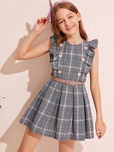 Black Kids Fashion, Kids Winter Fashion, Crochet Baby Dress Pattern, Baby Girl Dress Patterns, Girls Fashion Clothes, Girl Fashion, Fashion Outfits, Cute Girl Outfits, Cute Outfits For Kids