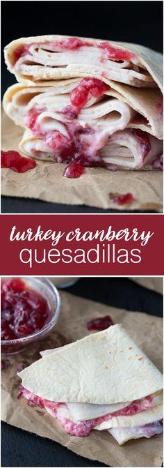 Turkey Cranberry Quesadillas