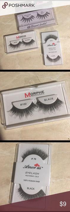 79980171fca False eye lashes, morphe, elegant lashes,amor us Black false eye lashes.