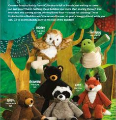 Scentsy Buddies !! Forest Collection