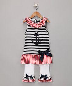 AnnLoren sailor tunic & white ruffle pants....gotta get this 4 my niece!!
