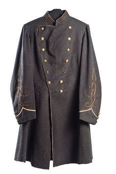 "Uniform Coat worn by Captain Thomas Pinckney (Charleston, SC). Served in the St. James Mounted Riflemen which was later incorporated into the 4th Regiment, South Carolina Cavalry. Captured at Haw's Shop, VA in May 1864, Pinckney was among the ""Immortal 600,"" a group of Confederate prisoners held in a crude stockade in front of Federal fortifications on Morris Island to discourage Confederate artillery fire. Charleston Museum."