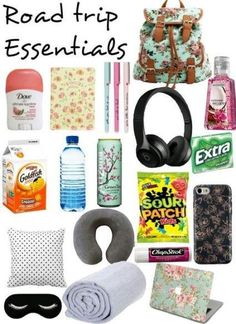 Travel Tips Packing Road Trip Teens New IdeasYou can find Road trip tips and more on our website.Travel Tips Packing Road Trip Teens New Ideas Road Trip Checklist, Travel Packing Checklist, Road Trip Packing List, Travel Bag Essentials, Road Trip Essentials, Road Trip Hacks, Travelling Tips, Packing Tips, Traveling