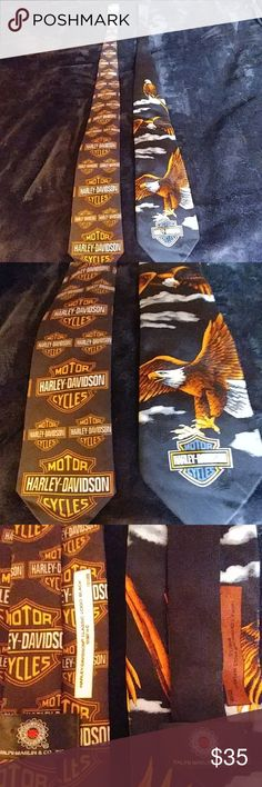 HD men's ties HD neck ties great condition, sold separately, o.b.o. for the 2, if you are only going to buy 1 you need to let me know which one you want. Harley-Davidson Accessories Ties