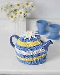Ravelry: Daisy Motif Tea Cozy pattern by Lily / Sugar'n Cream to fit 6 cup teapot