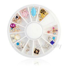Cute assorted nail art decorations. Use my code AAX31 for 10% off  @BornPrettyStore, 12Pcs/Box Acrylic UV Gel Nail Art Decoration ... at $13.25. http://www.bornprettystore.com/-p-15121.html