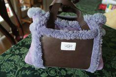 My fuzzy purple UGGS purse