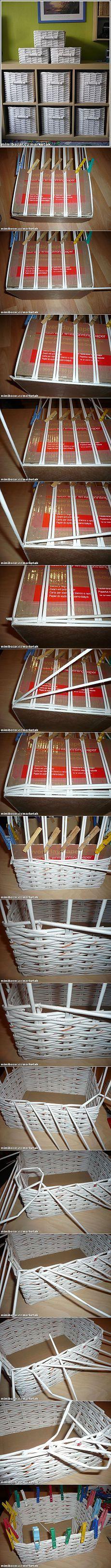 Плетение из газет - от корзинок до шляпок - 7 фото МК.