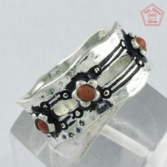 3.1 gm Silvex Images 925 Sterling Silver 5 US Amazing Coral Ring R4018 #SilvexImagesIndiaPvtLtd #Band #AllOccasions