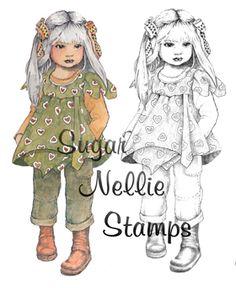 Sugar Nellie digital stamp