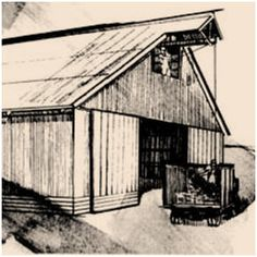 Tractors sheds and the roof on pinterest for Hay shed plans