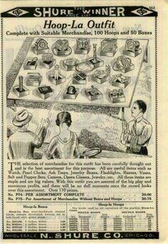 1929 30 Ad Carnival Game Gambling Hoop Toss La Church Fair Bazaars Spindle | eBay