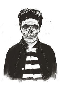 Poster   DEATH FASHION von Balazs Solti   #poster #design #art #artwork #drawing #skull