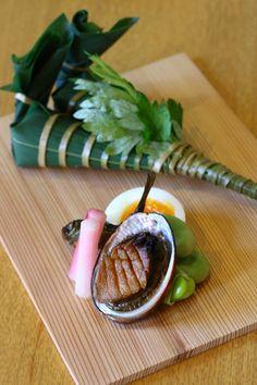 端午の節句の懐石 八寸 粽寿司