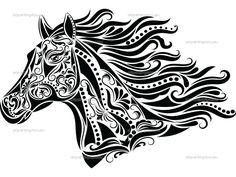 doodled horse