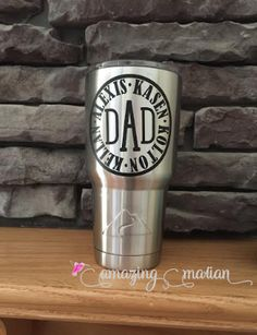 Dad Established Fathers Day Personalized Yeti Tumbler By