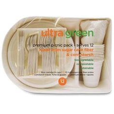 If you have to buy paper goods, Ultra Green Party Pack seems like a good option. Otherwise try to use reusable products!