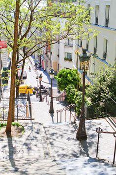 A walk through the beautiful neighborhood of Montmartre, Paris, France. #travel #paris #france