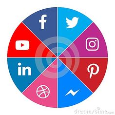 Social media icons facebook twitter youtube instagram messenger linkedIn pinterest dribbble color new vector illustration #download #logo #upload #svg #eps