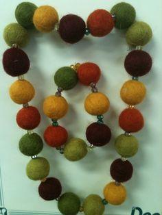 Felt Ball Jewelry