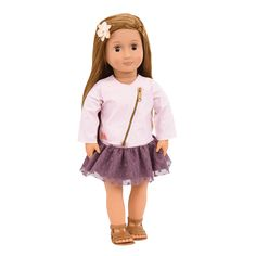 Our Generation Regular 18 inch doll, Non poseable 18 inch doll, Vienna Our Generation doll, 18 inch doll with brown hair