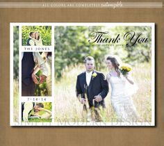 wedding thank you card multiple photos by xSimplyModernDesignx, $15.00
