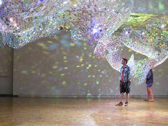 Bildergebnis für Plexiglas Radiant by Evonik architektur Retro Interior Design, Glass Installation, Interactive Art, Creative Colour, Korean Artist, London Art, Stage Design, Wire Art, Public Art