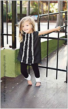 Black Jumper with Polka Dot Ruffles by simplicitycouture on Etsy, $34.00