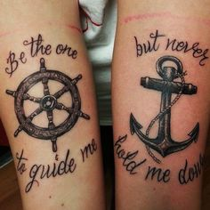 A most thorough guide on Best friend tattoos (BFF tattoos). They make a memorable gift which two friends can give to each other. Bff Tattoos, Bestie Tattoo, Sibling Tattoos, Body Art Tattoos, Small Tattoos, Tattoos For Guys, Tattoos For Women, Tattoos For Brothers, Anchor Tattoos