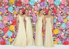 A Palette of Pastels from Ronald Joyce Bridesmaids 2015; buttercup