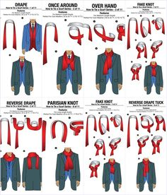 How to Tie a Scarf for Men in 11 different ... ways to tie a scrarf