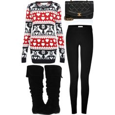 """""""ugly christmas sweater"""" by victoria-publicover on Polyvore"""