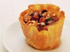 Custard Tartlet with Nuts & Fig Jam | Spanish Recipes