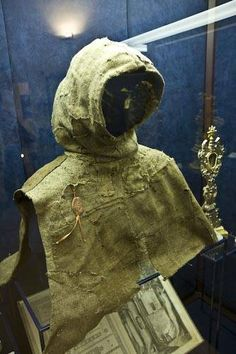 """""""Picture of the Monk's Hood Worn by Giovanni della Verna (1259-1322) Hood dated to 1290 (?)"""