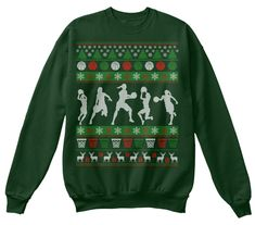 Discover Ugly Basketball Girl Christmas Sweater Sweatshirt, a custom product made just for you by Teespring. Inappropriate Christmas Sweaters, Cheap Christmas Sweaters, Light Up Christmas Sweater, Matching Christmas Sweaters, Ugly Xmas Sweater, Tacky Christmas, Christmas Shirts, Sweater Shirt, Xmas Sweaters