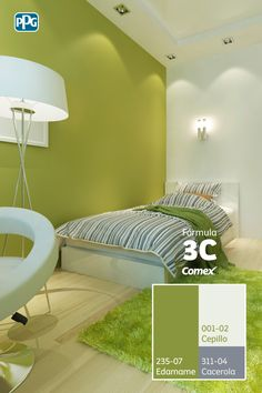 Green Bedroom Walls, Green Master Bedroom, Green Rooms, Bedroom Colors, Room Color Design, Home Wall Colour, Bedroom Decor Ideas Colour Schemes, Home Decor Colors, House Paint Exterior