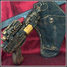Steampunk gothic HALO  Gun Holster BELT by oldjunkyardboutique, $39.99