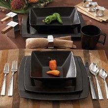 Top 11 Modern Tableware Design Trends 2013 Adding Unique Flavor to Stylish Table. Top 11 Modern Tableware Design Trends 2013 Adding Unique Flavor to Stylish Table Setting Top 11 Mo Black Dinnerware, Buffet Set, Dinner Dishes, Dinner Ware, Ceramic Tableware, Dish Sets, Kitchen Items, Kitchen Ware, Kitchen Essentials