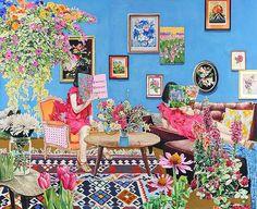 도쿄 출신의 일러스트 작가Naomi Okubo 의 작품 I like the particular quality of color in her paintings.