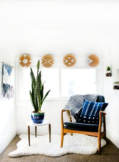 Progress in the master bedroom is coming right along, and this modern boho sitting nook is the first glimpse into how the whole space is going to look!