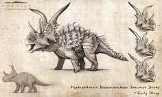 Hyperendocrin Diabloceratops by EmilyStepp.deviantart.com on @DeviantArt